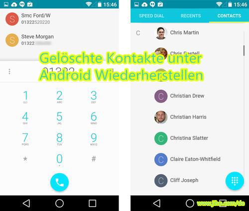 Wie kann ich gelöschte Kontakte auf Android wiederherstellen?