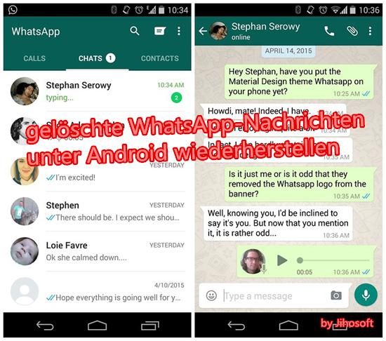 Teil 1: WhatsApp Chatverlauf auf iPhone wiederherstellen