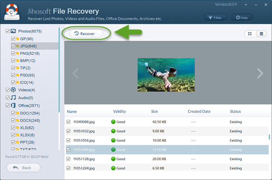 recover deleted files from recycle bin after empty