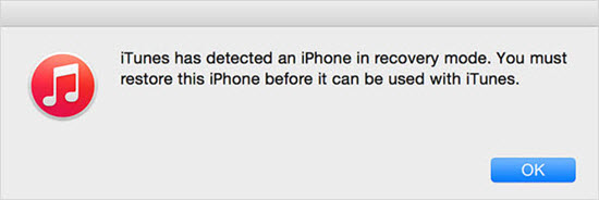 Fix iPhone Stuck in Recovery Mode with iTunes