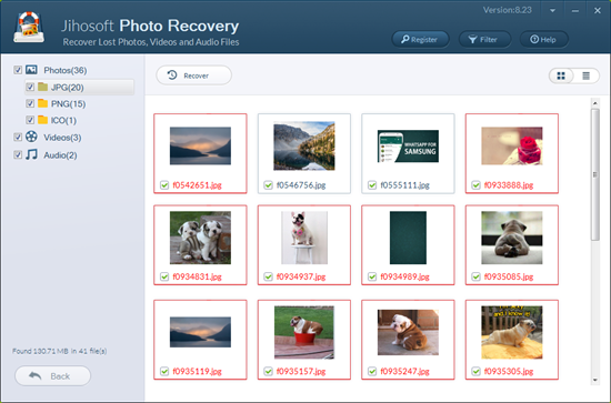 recover deleted photos videos audios