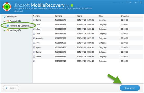 cuál es la mejor manera para recuperar las llamadas borradas de android