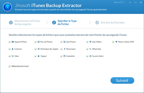 Jihosoft iPhone Backup Extractor Gratuit