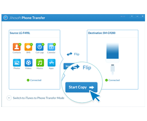 Transferir datos desde un teléfono por un click