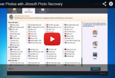 Video Guide about how to Recovery Photos