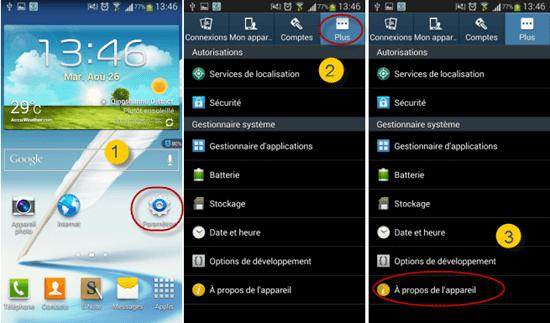 Mesures pour permettre le débogage USB sur Android 4.2-4.3