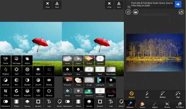 Pixlr Live, Beste fotobearbeitungs-app für Android.