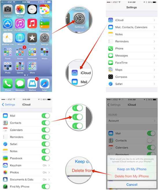 Comment récupérer les contacts supprimés de iCloud ?