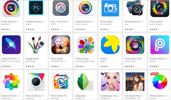 Des meilleures 10 éditeurs de photos Android gratuits en 2019