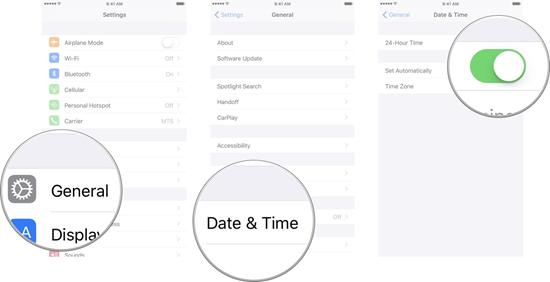 Ändern Sie die Datums- und Uhrzeiteinstellungen