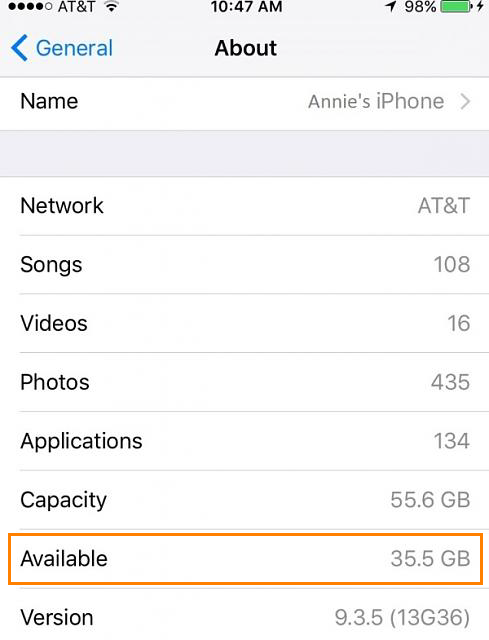 Reinigen und befreien Sie den iPhone Speicher