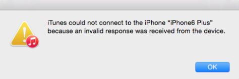 iTunes n'a pas pu se connecter à l'iPhone en raison d'une réponse non valide ...