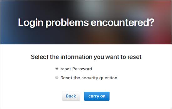 Restablecimiento de la contraseña del ID de Apple