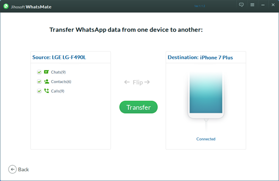 Move WhatsApp from Android to iPhone with Whatsmate
