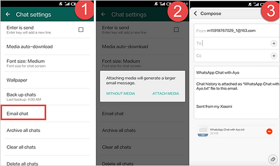 Copy WhatsApp History from Android to iPhone