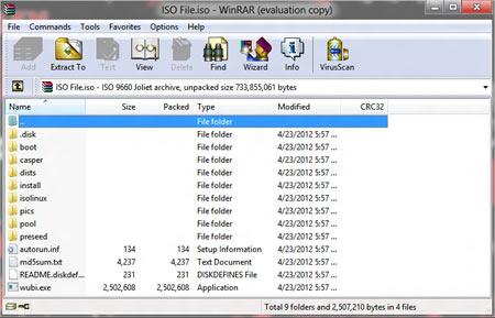 Cómo abrir archivos ISO