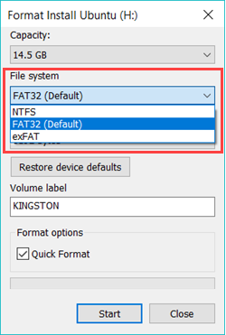 format FAT32 USB drive and convert it as NTFS