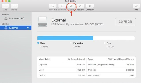 Using Disk Utility to to Put a Password on a Flash Drive on Mac