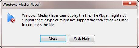 Solution du problème que Windows Media Player ne lit pas le fichier AVI