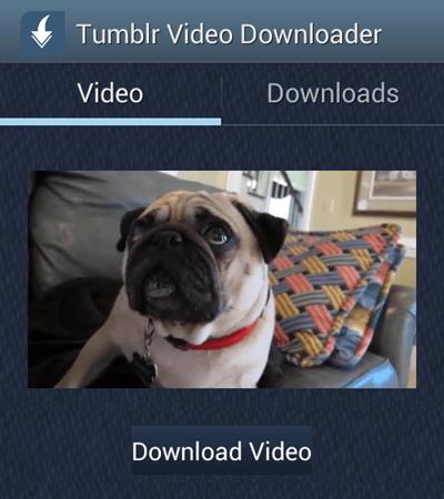 Guardar vídeos de Tumblr en teléfonos Android