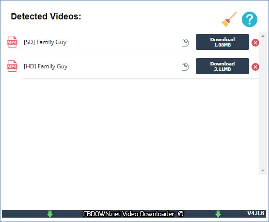 U ka boloka video ea Facebook joang ka FBDown Video Downloader plugin