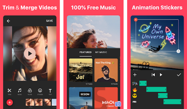 InShot video editor is one of the Top 10 Best Free Video Editors for Android in 2019.