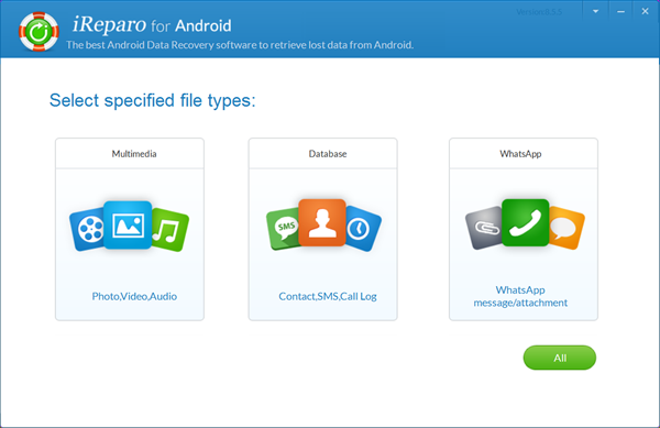 iReparo Android Data Recovery Software.