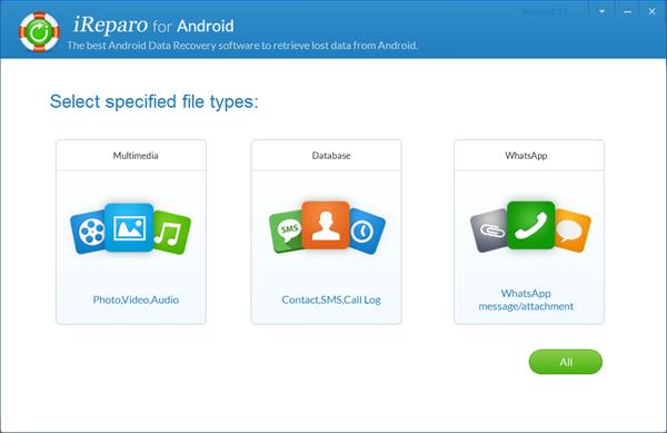 iReparo Android Data Recovery Software.