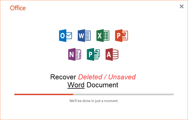 MS Word Document Recovery