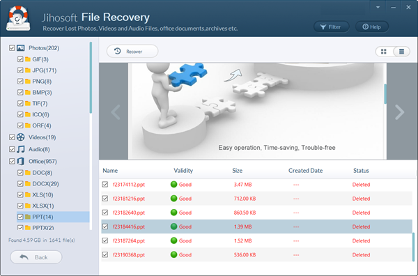 Recover deleted files from SD card