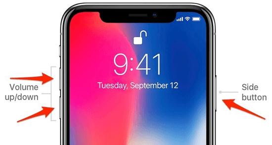 Redémarrez l'iPhone