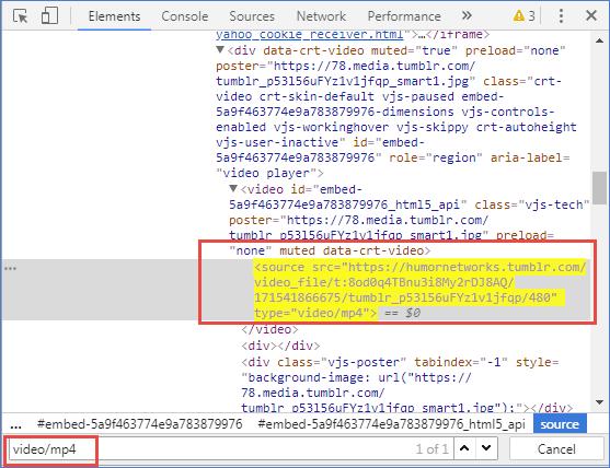 Enregistrer la vidéo Tumblr directement par Chrome sans aucun logiciel