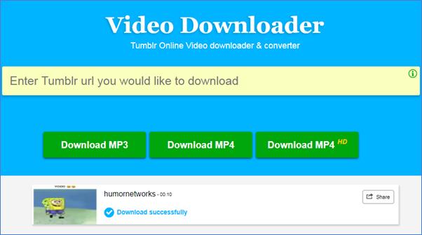 Télécharger une vidéoTumblr en ligne