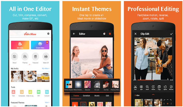 VideoShow is one of the Top 10 Best Free Video Editors for Android in 2019.