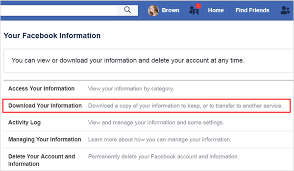 Find Deleted Facebook Messages from Downloaded Copy