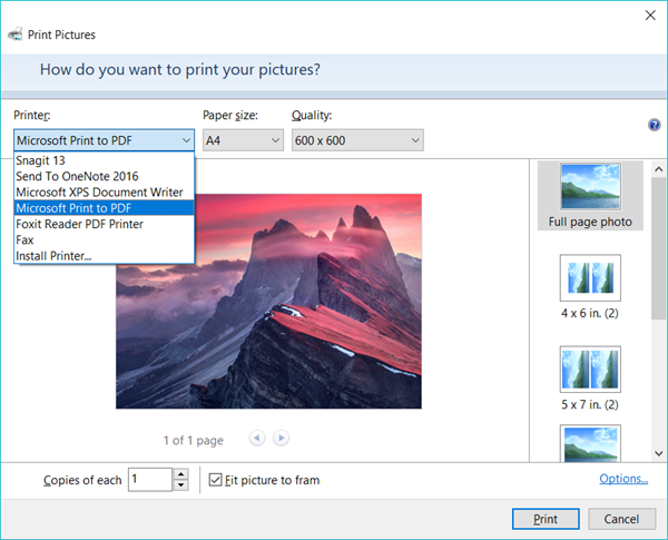 How to Use Microsoft Print to PDF in Windows 10 Normally