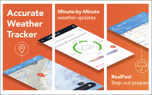 AccuWeather is one of 5 Best Weather Apps for Android with Accurate Weather Forecast.