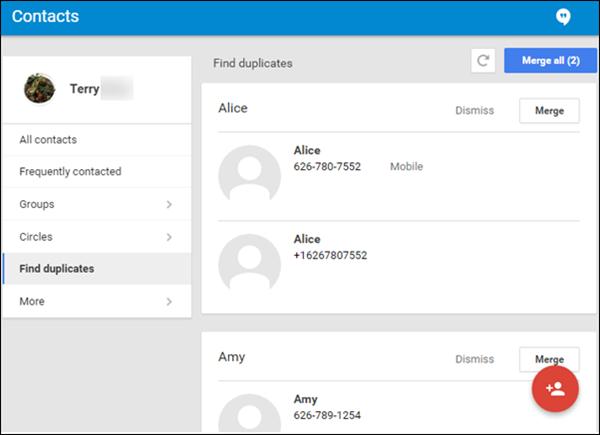 Verbinden Sie doppelte iPhone-Kontakte in Gmail