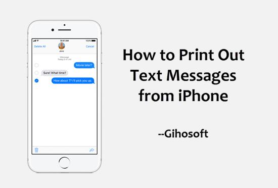 Comment imprimer des messages texte à partir d'iPhone