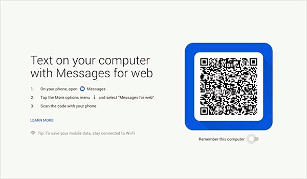 Étapes pour envoyer les messages textes à partir de l'ordinateur avec l'application Android Messages for Web