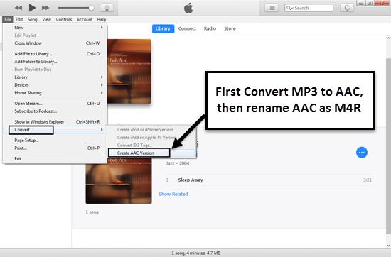 Créer une sonnerie pour iPhone avec iTunes