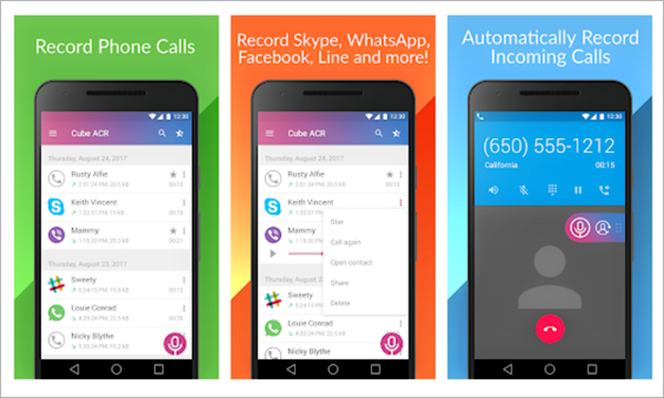 Cube Call Recorder ACR is one of the Best Call Recorder App to record Phone Calls on Android Easily.