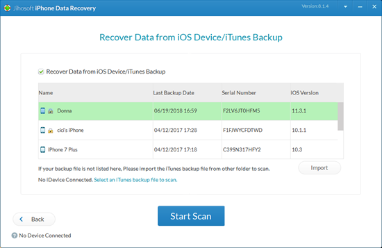 Drucken Sie iPhone-Nachrichten in iCloud / iTunes Backup