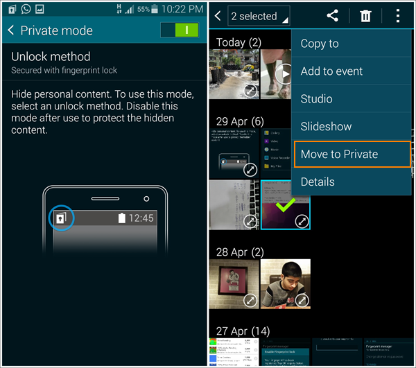 Take Advantage of the Phone Built-in Private Mode