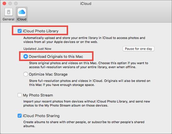 Télécharger des photos depuis iCloud