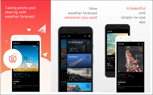 Today Weather is one of 5 Best Weather Apps for Android with Accurate Weather Forecast.