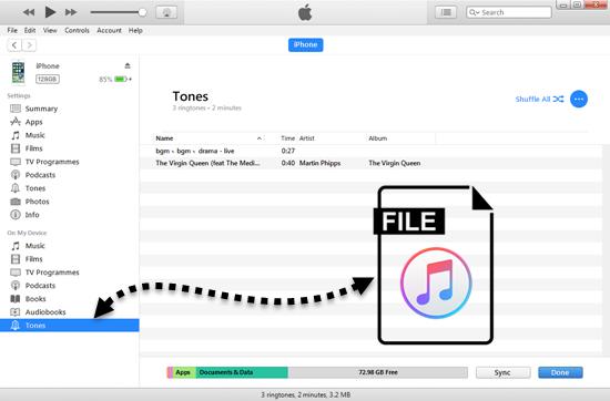 Crear tono para iPhone usando iTunes