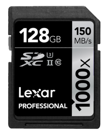 Lexar 128GB Professional 1000x Micro SDXC UHS-II U3 Card is one of the Best 5 SD Cards for GoPro Hero Sport Camera.