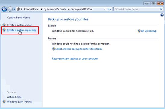 Formatee el portátil con Windows 7 con el disco de reparación del sistema