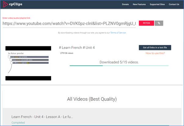Pasos fáciles de implementar para descargar la lista de reproducción de YouTube como video / audio en línea